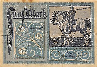 Germany / Frankfurt A.M. 5 Mark  15.10.1918  circulated Banknote 2D2