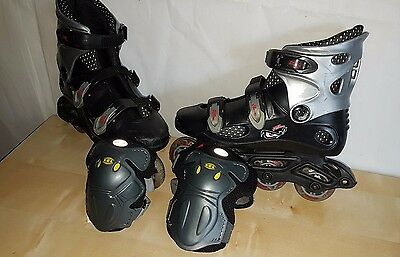 No Fear Inline Skates - Size UK 4 (EU Size 37) + New Elbow Guards