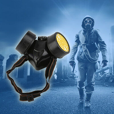New Emergency Survival Safe Respiratory Gas Mask With 2 Dual Protect Filter FY