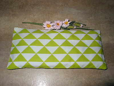 Yoga Relaxation Eye Pillow Lavender Filled Green Triangle Print *free Cover*