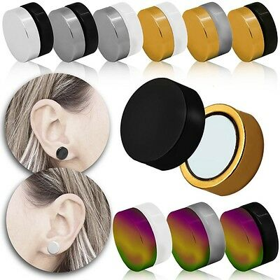 Magnet Ohrringe Edelstahl Fakeplugs Piercing Ohrstecker Ohrclip Tunnel Ohne Loch