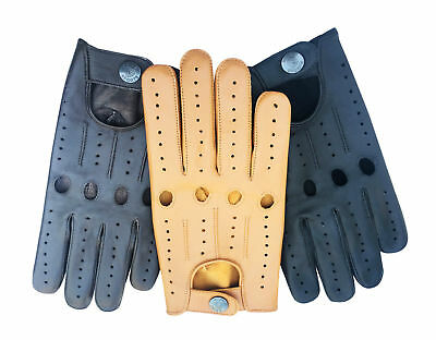 MEN's GENUINE TOP QUALITY LEATHER DRIVING RIDING GLOVES