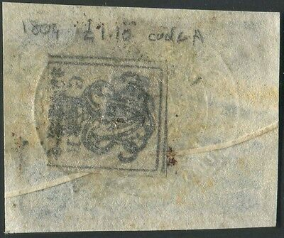 GB 1804 ONE POUND TEN SHILLINGS Code A blue embossed revenue stamp