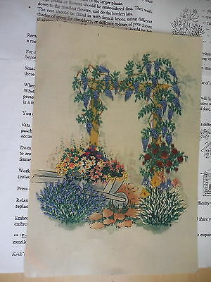 Craft Embroidery Kag's Treasures & Heirlooms In The Garden Kit Started