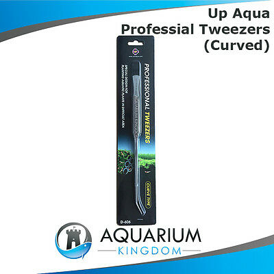 UP Aqua Tweezers CURVED - Stainless Steel Planting Professional Aquascaping Tool