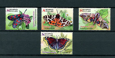 Belarus 2016 MNH Butterflies 4v Set Insects Stamps