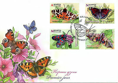 Belarus 2016 FDC Butterflies 4v Set Cover Insects Stamps