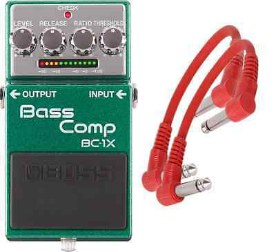 Boss BC-1X Intelligent Multiband Compression Pedal + 2 Patch Cables