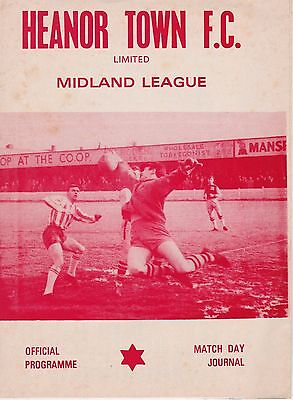 HEANOR TOWN v KIMBERLEY TOWN ~ MIDLAND COUNTIES LEAGUE ~ 7 FEBRUARY 1981