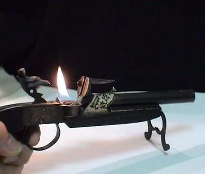 Briquet ancien Collection type Thunder Pistol Desk Lighter Feuerzeug Accendino