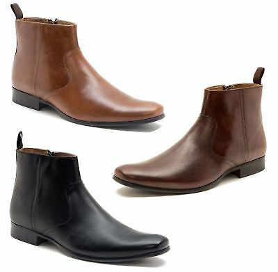 Red Tape Belmont Mens Smart Casual Leather Zip Mens Ankle Chelsea Boots