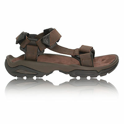 Teva Terra FI 4 Mens Brown Leather Walking Outdoors Trail Sandals Summer Shoes