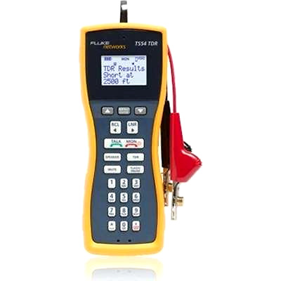 Fluke Networks TS54-A-09-TDR TS54 Pro LCD Butt-In TDR Telephone Test Set with AB