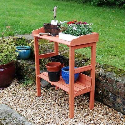 Outdoor Wooden Fir Potting Table Garden Bench Greenhouse Staging Shelf Decking