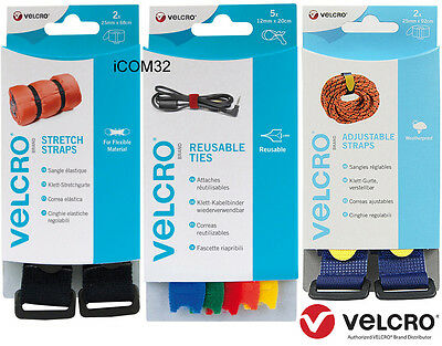 VELCRO® Brand Stretch, Carry Straps, Cable Ties, Easy Hang, Straps with Buckle