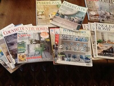 15 VARIOUS HOUSE/HOME MAGAZINES Country /Period Living; English Home