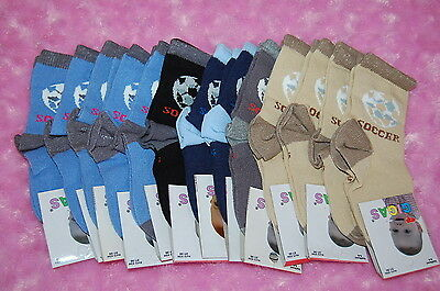 10 Pairs Boys Kids Ankle High Socks 5-6 Years