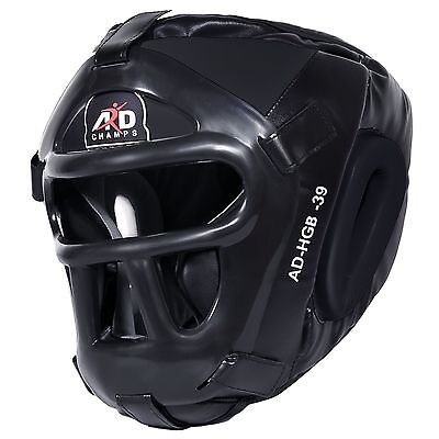 ARD CHAMPS™ Protector Guard Wrestling Helmet Head Gear Boxing MMA Rugby- Black