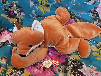TY beanie babies soft cuddly toy  PILLOW PAL  FOXY