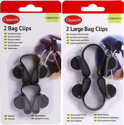 New Clippasafe Pram Buggy Pushchair Bag Clips Shopping Carrier Bag