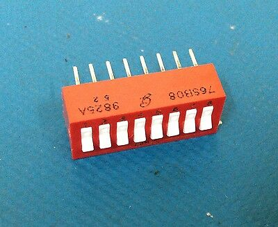 x8 **NEW** GRAYHILL 76SBO8, 8-Way DIP Switch, 16-Pin DIP