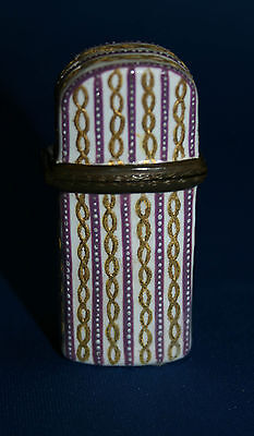 18c British Battersea Enamel Etui Scent Bottle Case