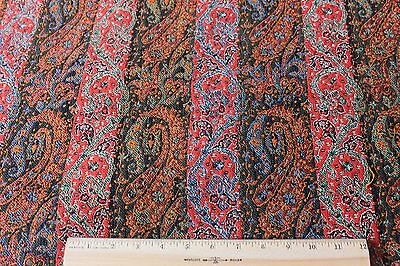 """Lovely Early 19thC Wool Paisley/Cashmere Shawl Fabric Textile~32""""L X 20""""W"""
