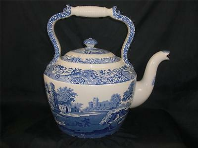 """Spode Blue Italian HUGE kettle VERY RARE 12 1/2"""" tall - Made in England    S1678"""