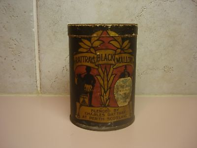 Black Americana Rattrays Black Mallory Tobacco Tin Very Rare With Product Inside