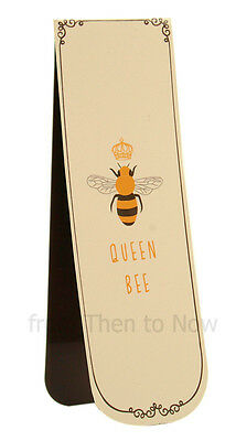 Queen Bee Magnetic Bookmark Busy Bees Reading Book Page Marker Gift Chic Shabby