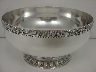 Vintage Christofle Malmaison Pattern France Silver Plated French Pedestal Bowl