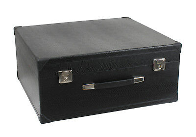 Deluxe Accordion Case For 120 Bass Instrument Lockable Leatherette Carry Bag Bk