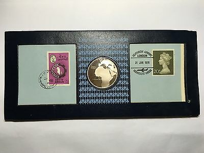 1976 Day Of The Concorde Silver Coin Set London - Bahrain Cover