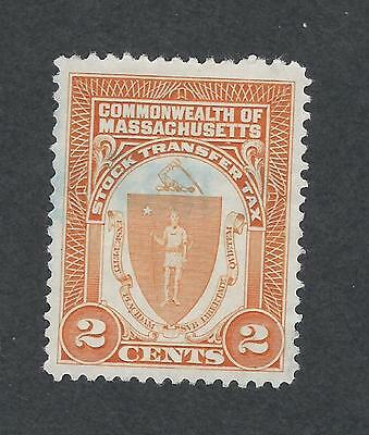mjstampshobby US Massachusetts Stock Transfer Tax Stamps Used VF Cond (1583)
