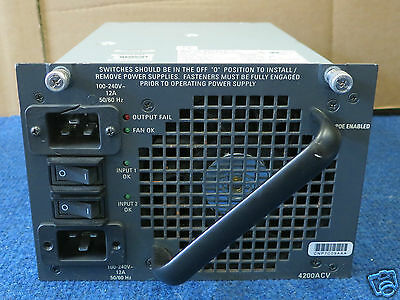Cisco PWR-C45-4200ACV 2 I/P 4200W Power Supply For Catalyst 4500 series Switch