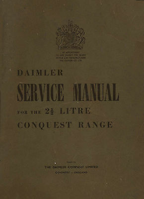 Daimler Conquest, Consort DB18 workshop manuals + loads of other Daimler manuals