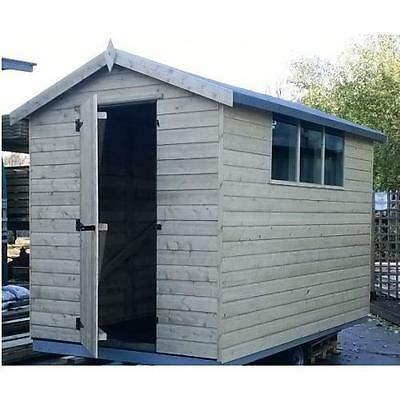7 x 5 WOOD APEX GARDEN SHED - PRESSURE TREATED TIMBER THROUGHOUT