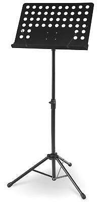 Pupitre Support Trepied Chef D'orchestre Musicien Reglable 69-115Cm Robuste Noir