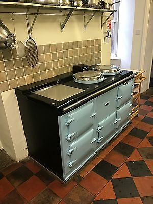 Aga Cooker 4 Oven, Fully Reconditioned, 13amp Electric in Baby Blue 'Rare Top'