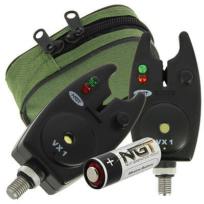 NGT Waterproof Fishing VX-1 Bite Alarm with Volume + Tone Control and Battery
