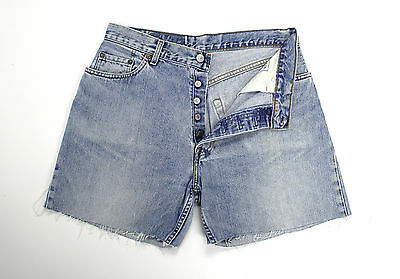 Levi's Vintage Womens Ultimate Denim Blue Stonewash High Waisted Shorts W32 Lv69