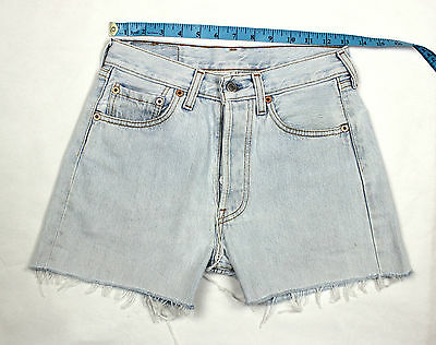 Levis Vintage Ultimate Denim Pale Blue High Waisted Shorts W26   Lv39