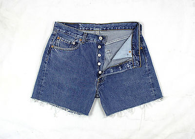 Levi's 501 Vintage Womens Ultimate Denim Mid Blue High Waisted Shorts W30 Lv59