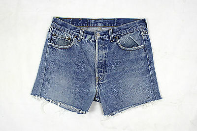 Levi's 501 Vintage Womens Ultimate Denim Blue High Waisted Shorts W29 Lv52