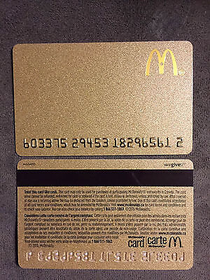 Mcdonalds Gift Card Collector: Gold Card. 2015 Canada