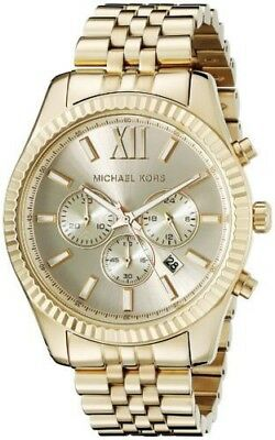 Michael Kors Lexington Gold Stainless Steel Chronograph MK8281 Men's Watch