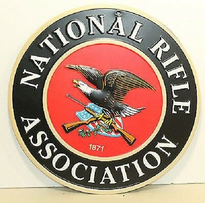 NATIONAL RIFLE ASSOCIATION Embossed Metal Signs Remington Winchester Colt NRA