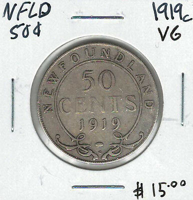 Canada Newfoundland NFLD 1919c 50 Cents VG Lot#5
