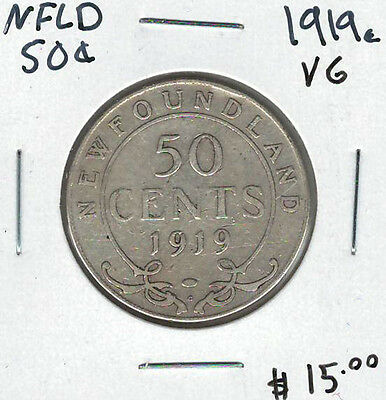 Canada Newfoundland NFLD 1919c 50 Cents VG Lot#6