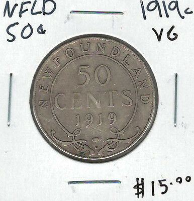 Canada Newfoundland NFLD 1919c 50 Cents VG Lot#8